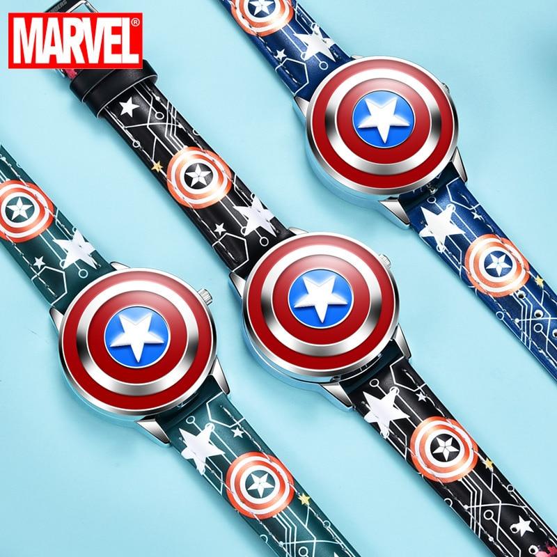 Relógio de Pulso de Quartzo Homem de Ferro Flip à Prova Disney Crianças Capitão Homem-aranha Meninos Relógio Dwaterproof Água Luminosa Estudante Fivela 3bar