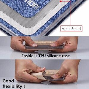 Image 5 - Caso di vibrazione per Huawei Honor caso di 9X HLK AL00 Honor 9X della copertura da 6.59 pollici CPU Kirin 810 posteriore del cuoio mofi del silicone libro di scintillio di lusso