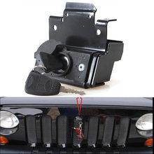 Conjunto de fechadura de segurança, kit de montagem antifurto do motor, adequado para jeep wrangler jk 2007-2010 2011 2012 2013 2014 2015 2016 2017 2018