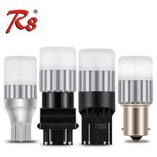 цена на 2pcs Car Truck LED Signal Light Bulbs 1156 P21W BAY15D 1157 T15 3156 3157 7440 7443 BAU15S Brake Reverse Turn DRL White Yellow