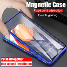 360 Volledige Cover Magnetic Case Voor Samsung Galaxy A50 A60 A70 A80 A10 A30 M10 M20 M30 M40 Met Screen protector Gehard Glas Cpa(China)