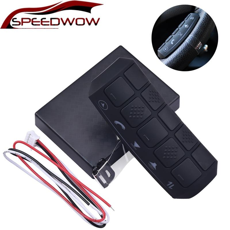 SPEEDWOW Универсальный Автомобильный руль дистанционного управления кнопки автомобиля Радио DVD gps плеер Многофункциональный беспроводной кон...