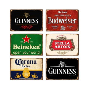 Beer Metal Plaque Vintage Tin Sign Wall Decor Bar Pub Club Man Cave Decorative Ice Cold Drink Poster Plates 20x30cm(China)