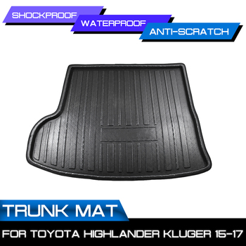 Car Floor Mat Carpet For Toyota Highlander Kluger 2015 2016 2017 Rear Trunk Anti-mud Cover image
