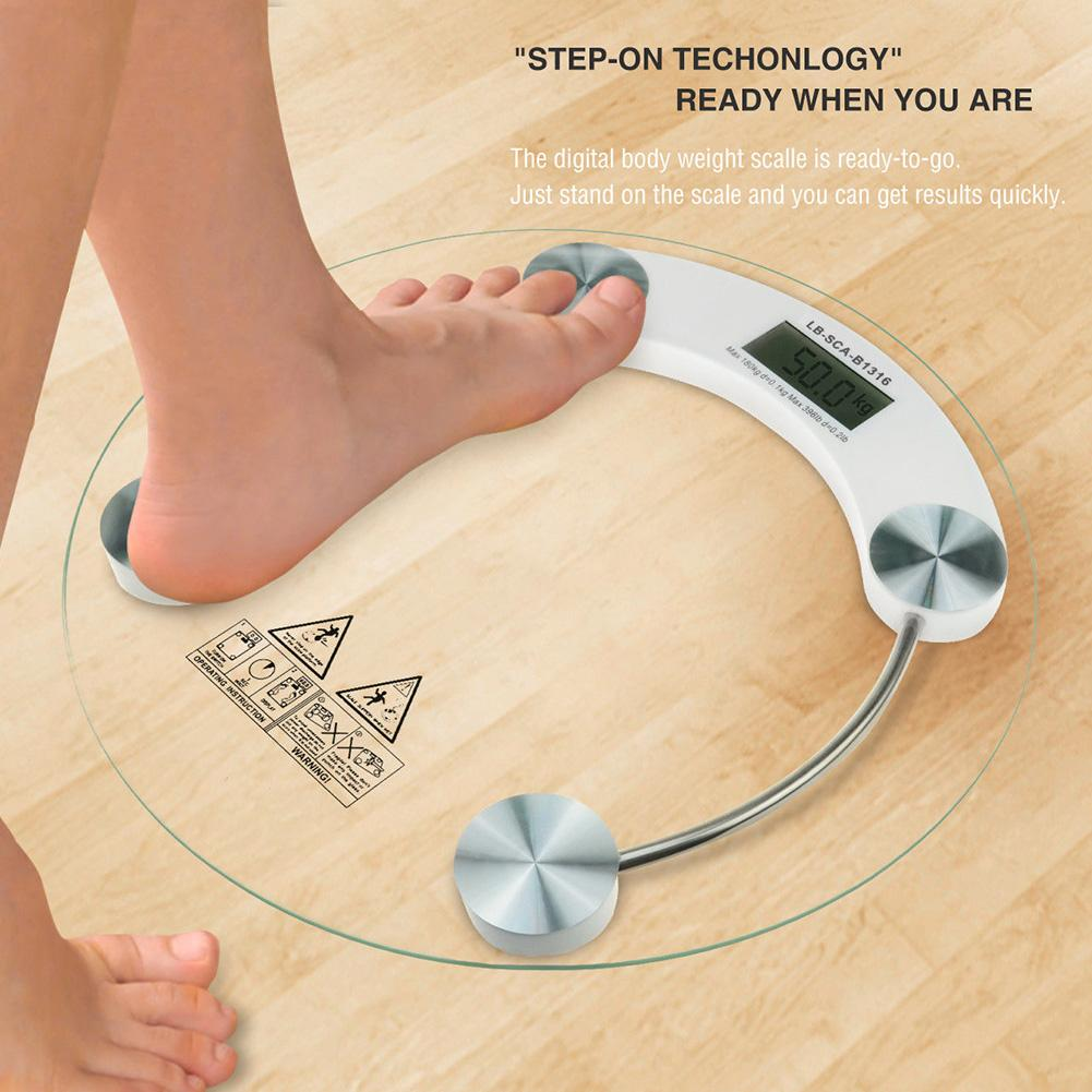 5 150kg Portable Precision Electronic LCD Digital Bathroom Body Weighing Scale Bathroom Scales     - title=