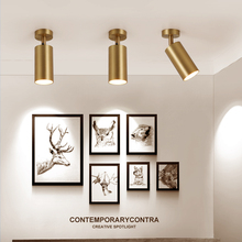 Umeiluce LED Ceiling Light Surface Mounted Track Lamps Clothing Shop Background Led Gold Metal Spotlights Luster
