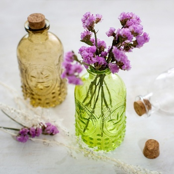 Retro Vase Carved Cork Bottle Glass Bottle Tabletop Vase Aromatherapy Bottle Home Decoration 1
