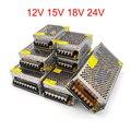 Светодиодный источник питания 12 В 15 в 18 в 24 В адаптер трансформатор 220 В в 12 в 1A 2A 3a 5A 10A 15A 20A 30A преобразователь переменного тока