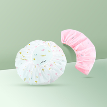 2PCS Thick Shower Cap Waterproof Layers Bathing Hair Cap For Women Bathroom Spa Accessories