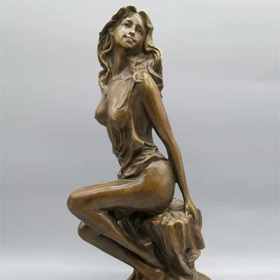 Bronze Crafts Sculpture Human Body Home Decoration Sculpture Furniture Of Pure Copper Carving Crafts Beauty Goddess