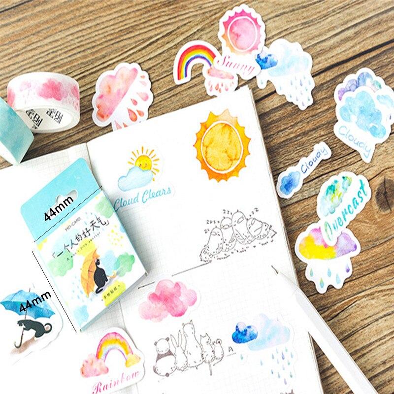 Купить с кэшбэком 46pcs/box Cute Flowers The Forest Fun mood Paper Label Stickers Decoration DIY Scrapbook Notebook Album seal Sticker Stationery