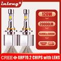 Вдлительную H7 H4 H11 светодиодный лампы CREE XHP70 второго поколения 6000K 20000LM 9005 D1S D2S D3S Автомобильный светодиодный фар H8 HB3 9012 противотуманные фары