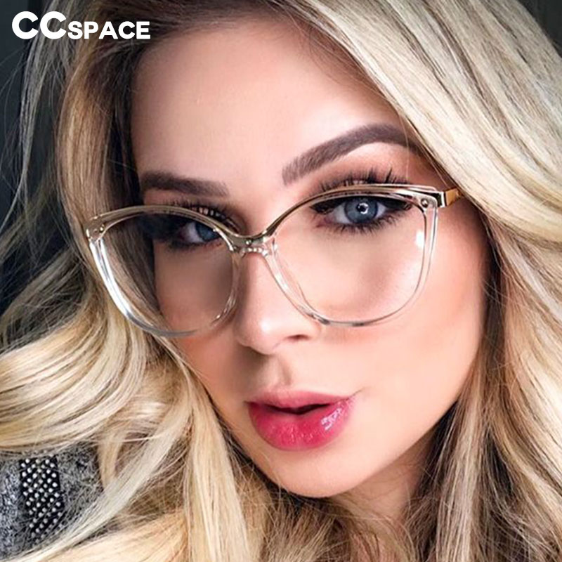 48052 Plastic Titanium Retro Cat Eye Glasses Frames Ultralight Men Women Optical Fashion Computer Glasses