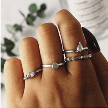 4pcs/Set Boho Vintage Punk Rings For Women Antique Geometric Midi Finger Bohemian Knuckle Ring Set Jewelry Anillos Gifts new bohemia vintage jewelry unique carving tibetan silver plated ring set for woman 4pcs set punk boho ring sets
