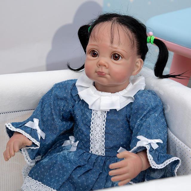 Купить кукла реборн 22 дюйма в этническом стиле мягкая виниловая младенец картинки цена