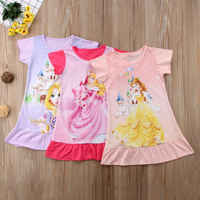 Printing Cartoon Tangled Rapunzel Dress Toddler Little Girls Sleeveless Flower Summer Dresses Baby Girl Clothes 2-6 Year