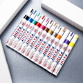 12 Color Fun Permanent Drawing With Markers Art Sketch Fluorescent Pen For Tire Rubber Metallic Glass Wood Waterproof Paint Pens