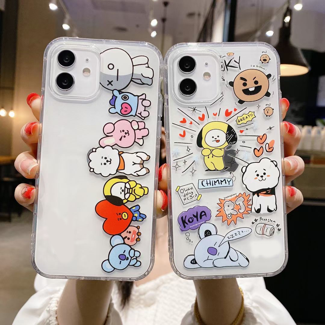 Avocado Cartoon Phone Case For Iphone 11 12 Pro Max Mini X Xr Xs Max 6 6S 7 8 Plus Se 2020 Clear Back Cover Shockproof
