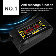 Full Automatic Cepat Smart Mobil Charger12V 10A 6A Asam/Gel Baterai Charger LCD Display Uni Eropa Plug US plug(China)