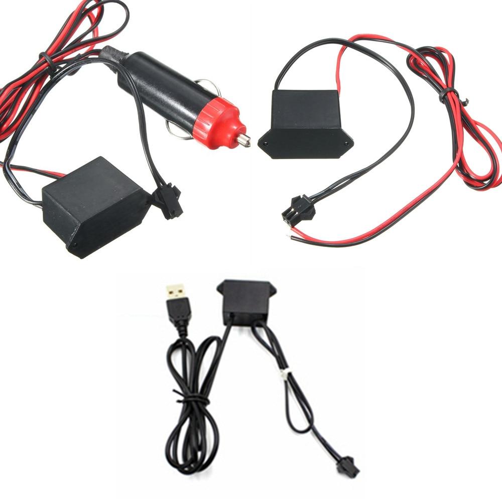 DC 12V EL line USB Cigarette lighter Drive Controller For 1-5M Neon Light LED Strip Light EL Wire Glow Flexible Neon Decor