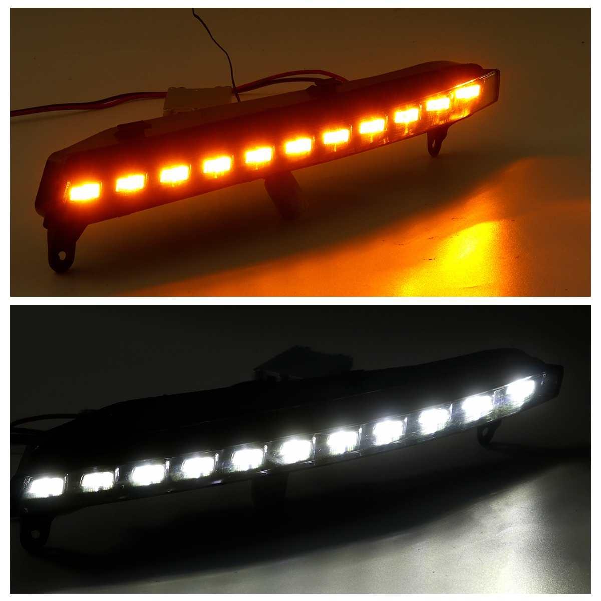 Clignotant LED de pare chocs avant pour Audi Q7 2006 2009 phare antibrouillard feux diurnes Drl clignotant accessoires de phares - 2
