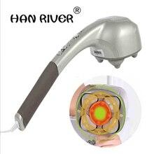 Senior 4 cabeças massager vara massageador elétrico coluna cervical multi função de corpo inteiro massagem vibratória martelo com cintura do pescoço