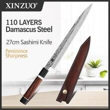 XINZUO 270มม.มีดซูชิ110ชั้นดามัสกัสครัวมีดเชฟใหม่ญี่ปุ่นSalmon Cleaver Slicingปลามีดซาซิมิ