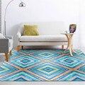 Wishstar синий акварельный Алмазный геометрический Коврик Скандинавский современный простой ковер для гостиной большой кухонный Коврик для п...