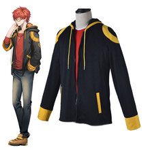DM 2019 Mens Halloween Anime Game Cosplay Mystery Messenger COS Costume Two-piece Jacket + Pullover