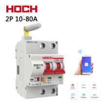 Hoch 10A-80A wifi circuit breaker remote control  two Poles Number 2P Delay Set Function Automatic Lock Intelligent switch MCB недорго, оригинальная цена