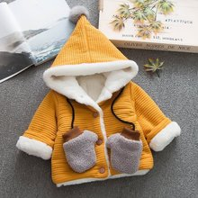 купить Girls warm outerwear winter kids cotton thick vekvet down parkas for baby boys children hoodies coats clothing girls jackets 4Y по цене 1110.75 рублей