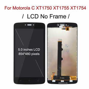 Image 2 - LCD مع إطار لموتورولا موتو C XT1750 XT1755 Xt1754 عرض C plus XT1721 XT1722 XT1723 XT1724 شاشة LCD تعمل باللمس محول الأرقام