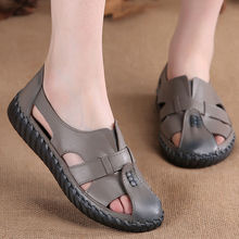Women Shoe Casual Flats Genuine-Leather Hole Summer Slide New-Style