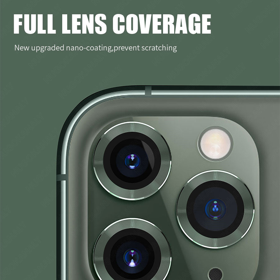 Camera Lens Screen Protector Glass For iPhone 11 Pro Max Case Rear Camera Ring Back Cover Protection 1
