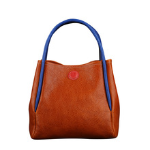 2020 luxury brand designer handbags leather high-quality retro solid color bucket bag womens shoulder