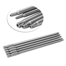 5 Pcs/Set 150mm T10-T30 Long Magnetic Torx Electric Screwdriver Drill Bits Kit