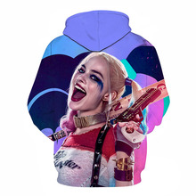 New Suicide Squad Joker Harley Quinn 3d Print Sweatshirt men women funny Hoodies cool streetwear Thin Pullovers
