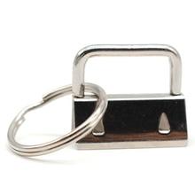 60 חתיכה מפתח טבעת חומרה Keychain צמיד חומרה עם שרוך מפתח טבעת, Keychain חומרה ופיצול טבעת אבזרים