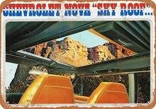 Nova céu telhado estanho sinal arte decoração da parede, vintage de alumínio retro metal sinal, pintura ferro