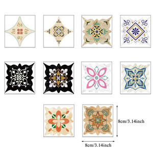 15pcs/lot Self Adhesive Ceramic tile stickers Waterproof Wall Sticker Art Diagonal Floor Stickers kitchen house decoration Hot