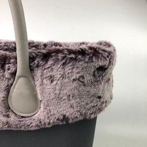 Image 4 - 11 renkler peluş Trim termal düzeltir klasik Mini boy O çanta Obag çanta aksesuarları