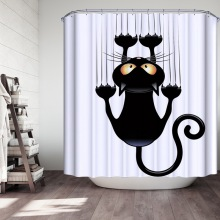 Кошка Ванна Душ занавеска лето водонепроницаемый кошачий душ занавеска s ванная занавеска ткань ванная комната шторы в ванную комнату