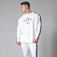 T-shirt rayé pour homme, en coton, coupe ample, hauts, Fitness, gym, Tokyo & London, 2021