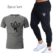 Spring Autumn Breathable Sport Pants Mens Running Pants+tshirt With Gym Training Trousers Jogging Pant Fitness For men