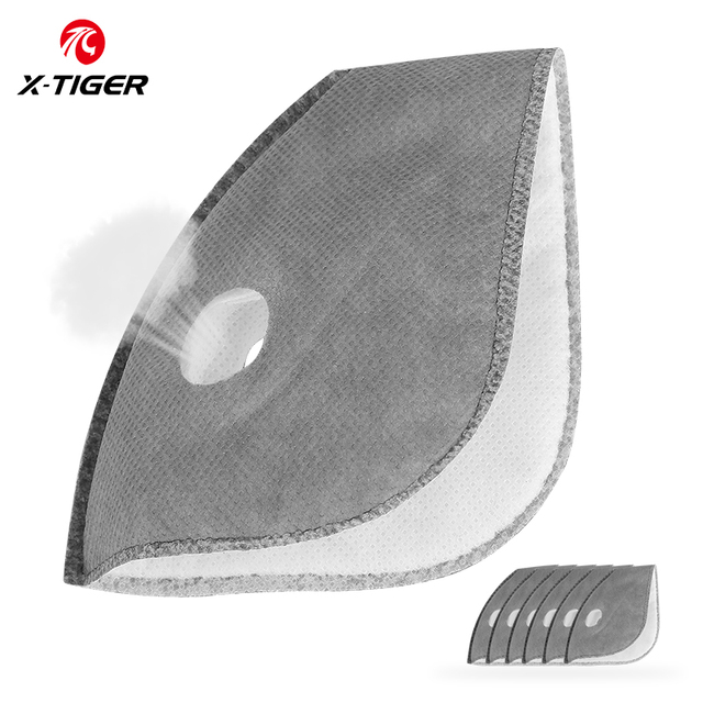X-TIGER Cycling Mask Filter PM2.5 Dustproof Replacement With Actived Carbon Filters Protect Face Mask Filter