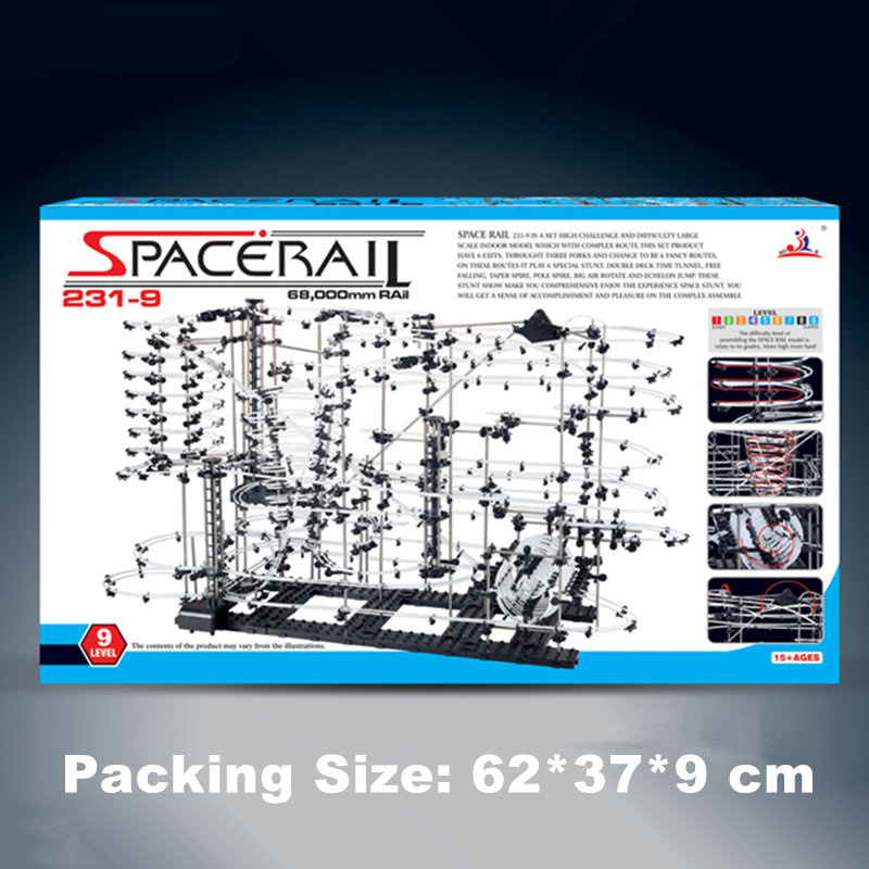 4set Toy Roller Coaster 1590 parts Highest Space Rail Warp Drive Level 231 9 Imagination EQ Creation Science Physical Mechanical in Model Building Kits from Toys Hobbies