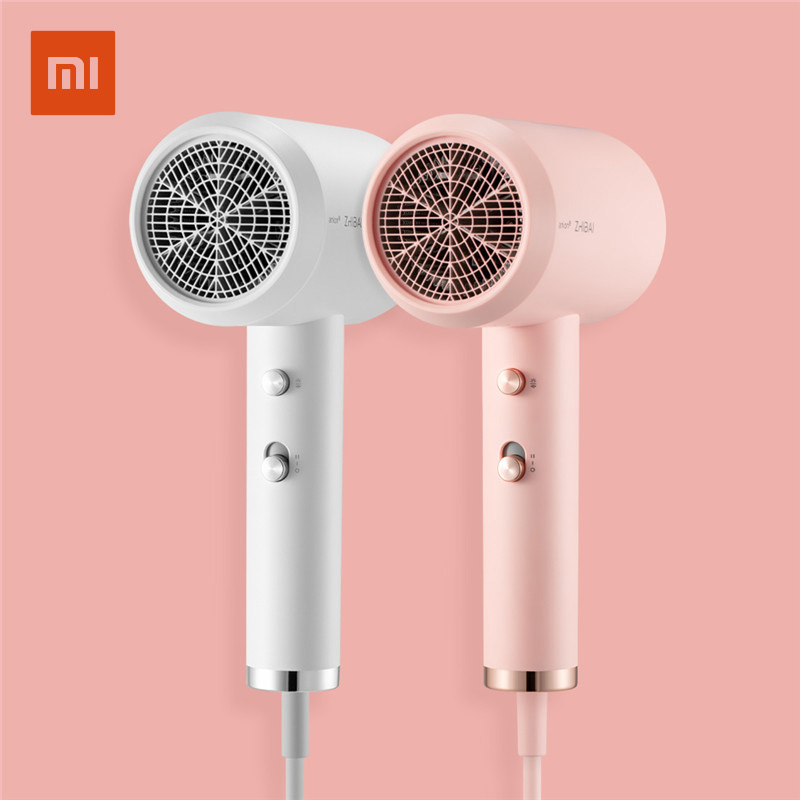 Xiaomi ZHIBAI Anion Hair Dryer Aluminum Alloy Body Air Outlet Anti-hot 2 Speed 3 Temperature Quick-drying Hair Tools HL311 HL312