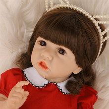 2020 Soft Touch Rebirth Doll 22'' Pouting Baby Doll Silicone Reborn Doll High Quality Reborn Toddler Pouting Baby Doll Christmas warkings reborn