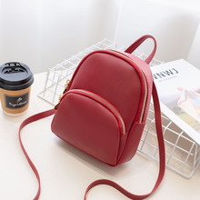 Retro small backpacks women 2019 fashion multi-function mini backpack female shoulder bags crossbody pouch for teenage girls