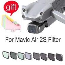 Kit de filtres polaires de densité neutre, accessoires de caméra pour Drone DJI Mavic Air 2S Combo UV/CPL/ND4/8/16/32/64/1000 PL